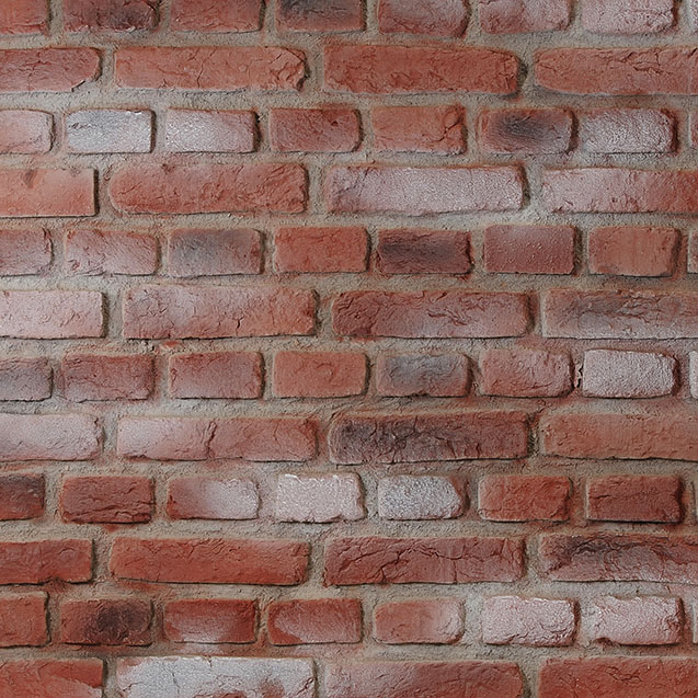 panelpiedra brick PR-516  urban brick aged whitewashed