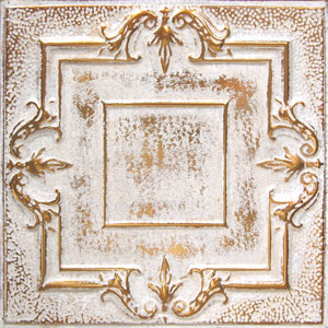new york ceiling ART copper washed white