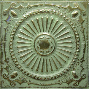 new york ceiling ART gold patina