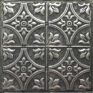 new york ceiling ART silver washed pewter