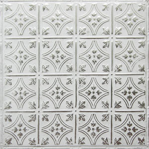 new york ceiling ART silver washed white