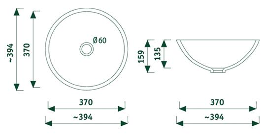 getacore wasbak GC-RU-370  rond