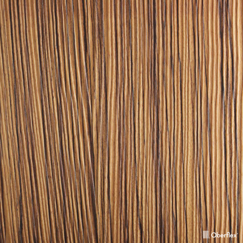 oberflex les sables natural zebrano straight-grain  bookmatched non-sequenced