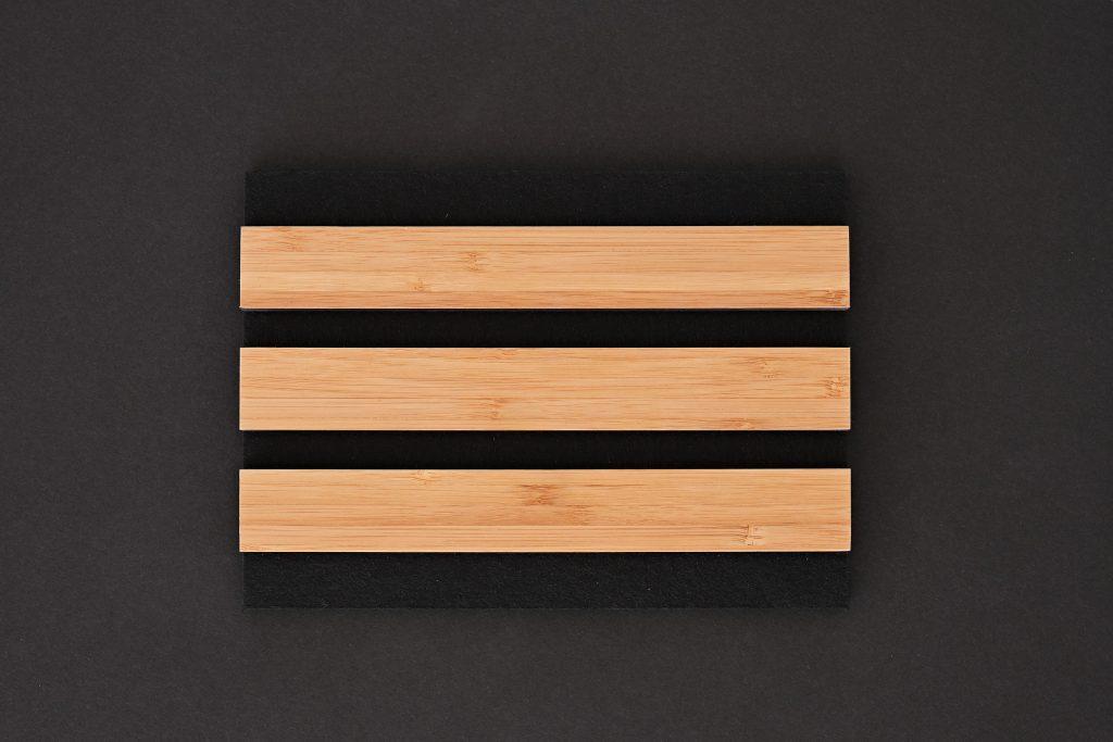 aangenaam akoestiek woodline Type 27 Bamboe ( blank mat gelakt )